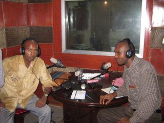 President GST avec les journalistes de Liberte FM2
