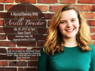 Arielle's fundraising concert