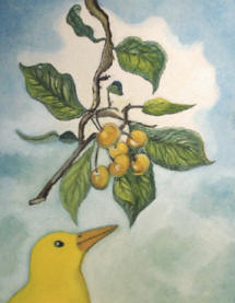A_yellow_cherry_bird